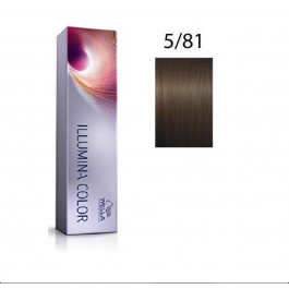 Wella Professionals Tinte Illumina Color 5/81 Castaño Claro Perla Ceniza 60ML