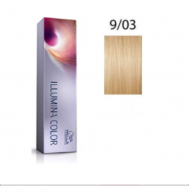 Wella Professionals Tinte Illumina Color 9/03 Rubio Muy Claro Dorado Natural 60ML