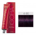 TINTE IGORA ROYAL ABSOLUTES MEDIUM BROWN VIOLET NATURAL 4-90 60 ml SCHWARZKOPF