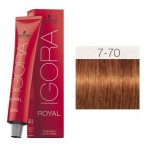 TINTE IGORA ROYAL ABSOLUTES MEDIUM BLONDE COPPER NATURAL 7-70 60 ml SCHWARZKOPF