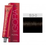 TINTE IGORA ROYAL SENEA DARK BROWN NATURAL S3-0 60 ml SCHWARZKOPF