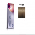Wella Professionals Tinte Illumina Color 7/81 Rubio Medio Perla Ceniza 60ML