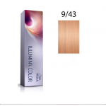 Wella Professionals Tinte Illumina Color 9/43 Rubio Muy Claro Cobre Dorado 60ML